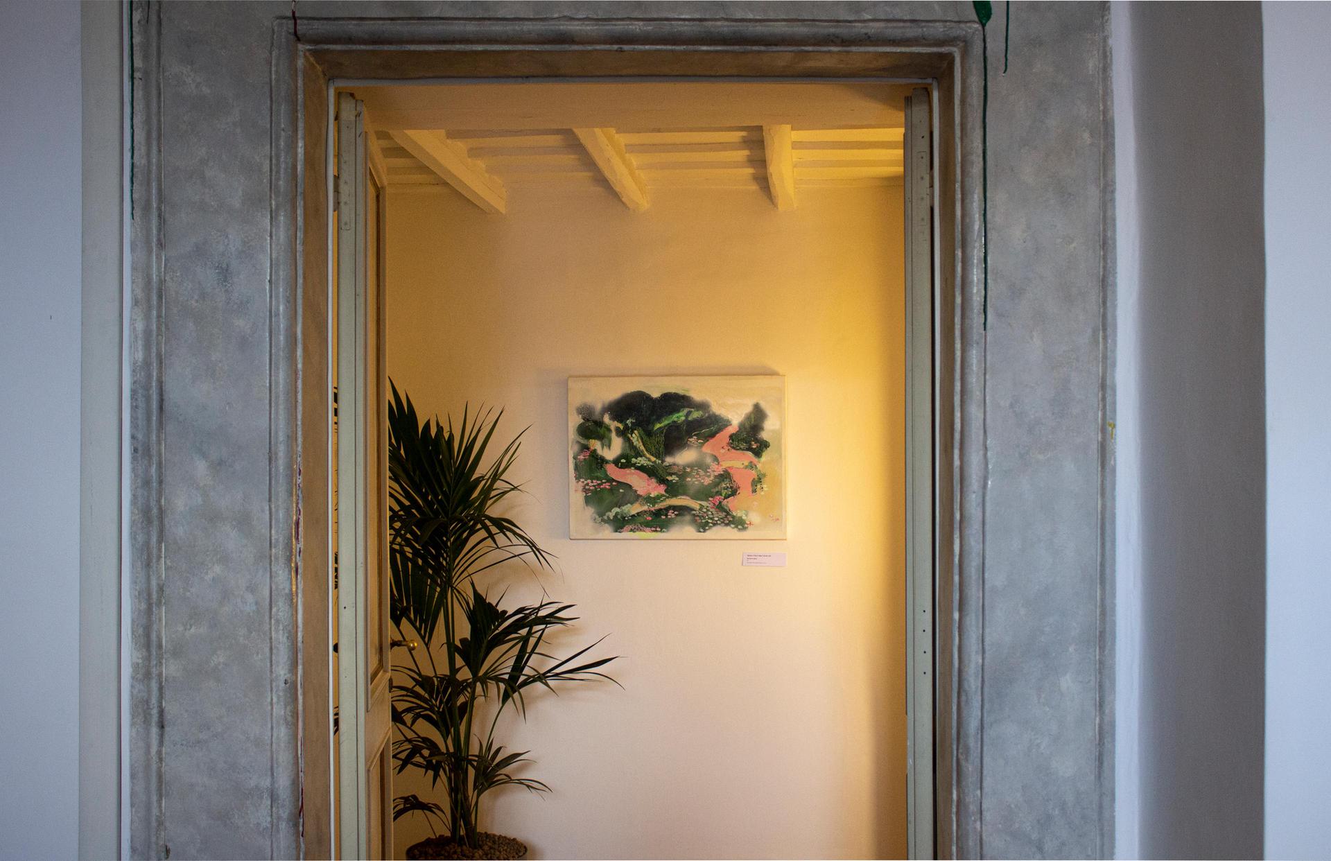 """Delfina Scarpa, """"Senza Titolo"""" Walt of my life, 2017, tecnica mista su tela, 75 x 57 cm"""