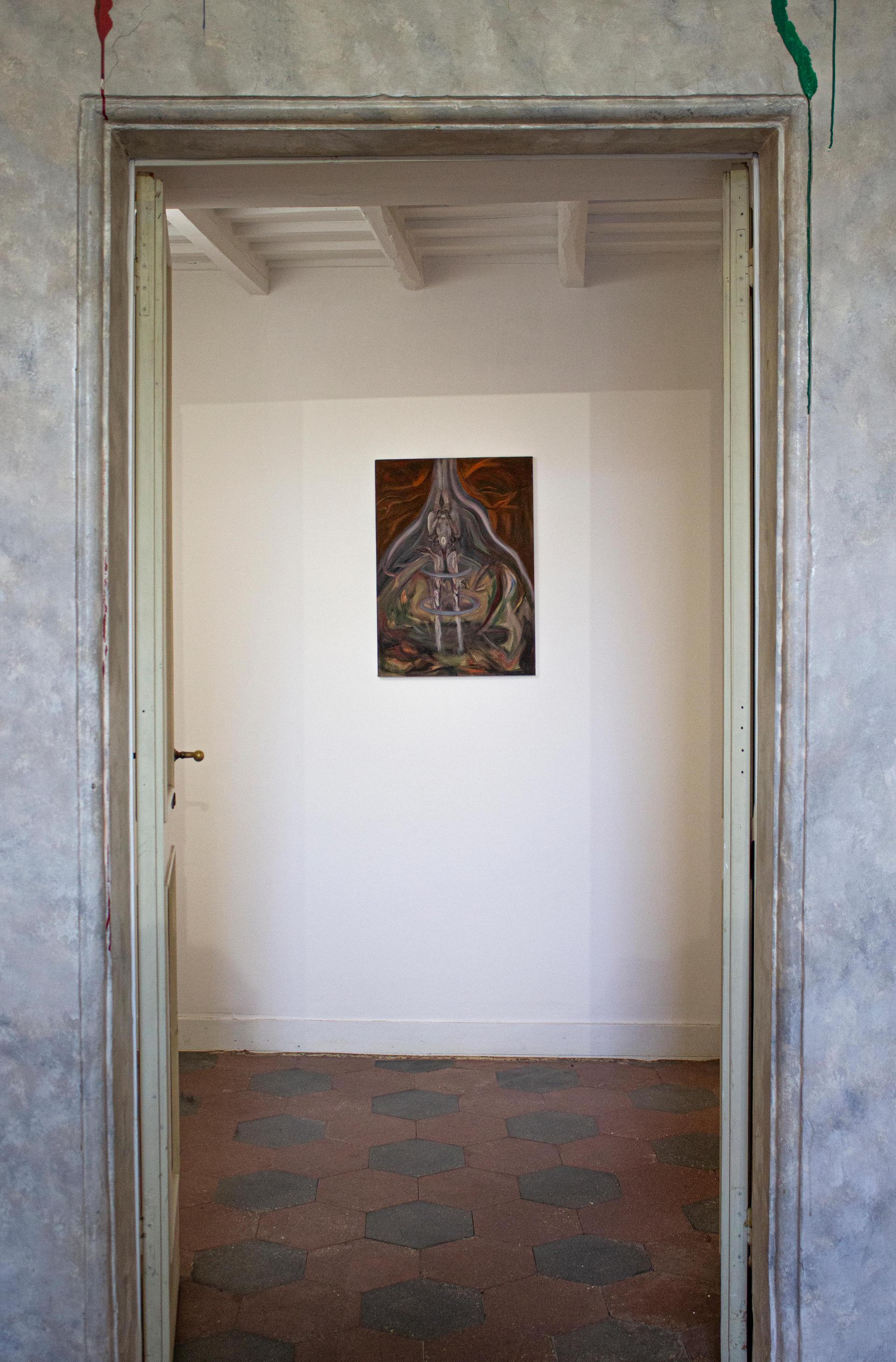 """Alessandro Giannì, """"senza titolo"""", 2017, olio su tela, 50 x 70 cm"""