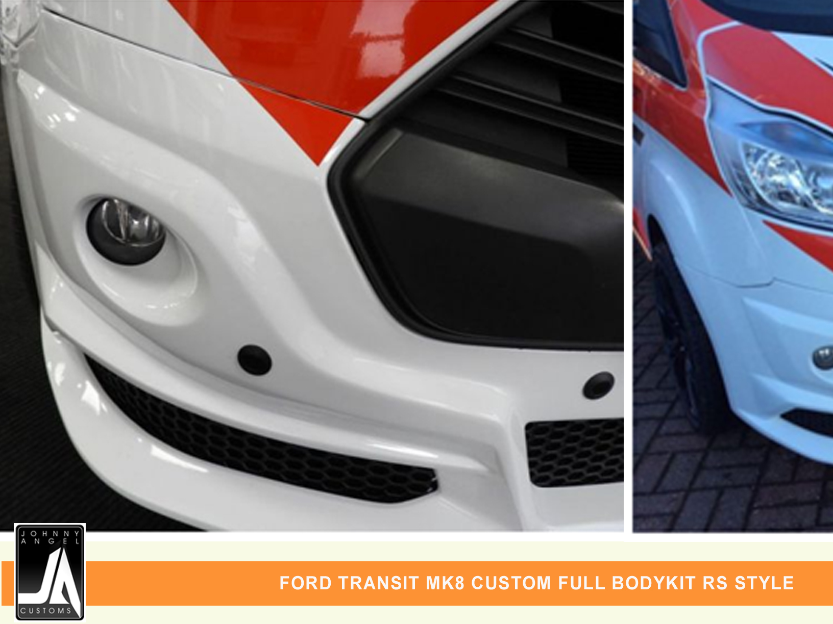 FORD TRANSIT MK8 CUSTOM FULL BODYKIT RS STYLE  By Johnny Angel Customs PIC 4