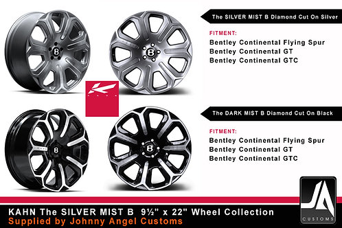 "KAHN The SILVER MIST B 9½"" x 22""Alloy Wheels Set 4"