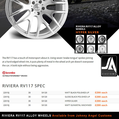 RIVIERA RV117 Alloy Wheels  22X10J 30  5X120