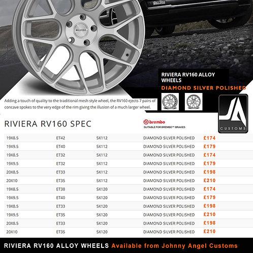 RIVIERA RV160 Alloy Wheels  20X10ET35  5X120