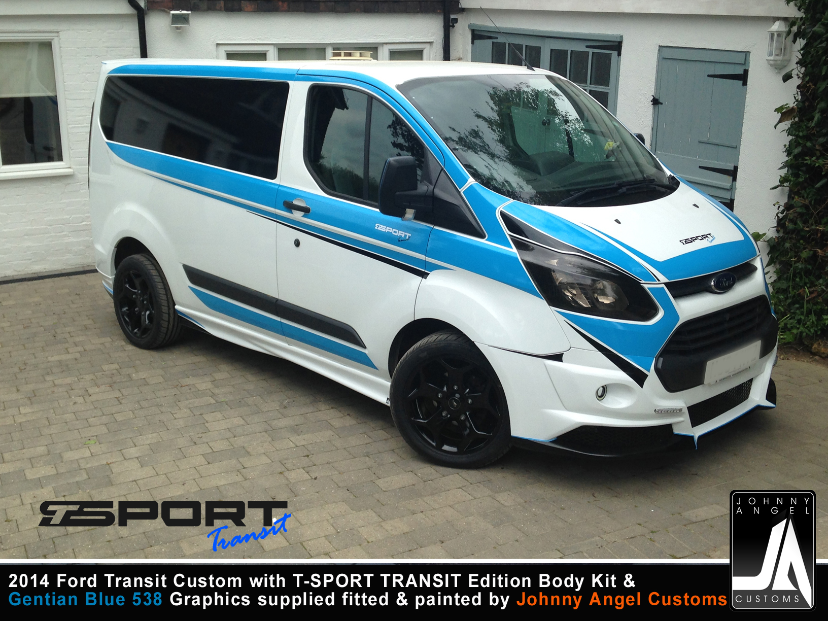 2014 Ford Transit Custom with T-SPORT TRANSIT Edition Body Kit & Graphics Light blue By Johnny Angel
