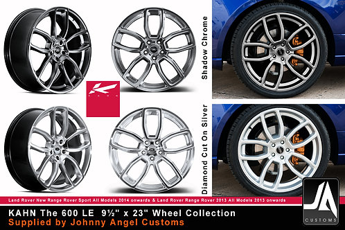 "KAHN The 600 LE 9½"" x 23"" Alloy Wheels SET of 4"