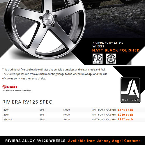 RIVIERA RV125 Alloy Wheels  22X10.5J  ET45  5X120