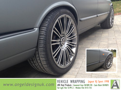 ANGEL DESIGN UK Vehicle Wrapping Jaguar XJ Sport 1998 Gunmetal Grey Pic 4