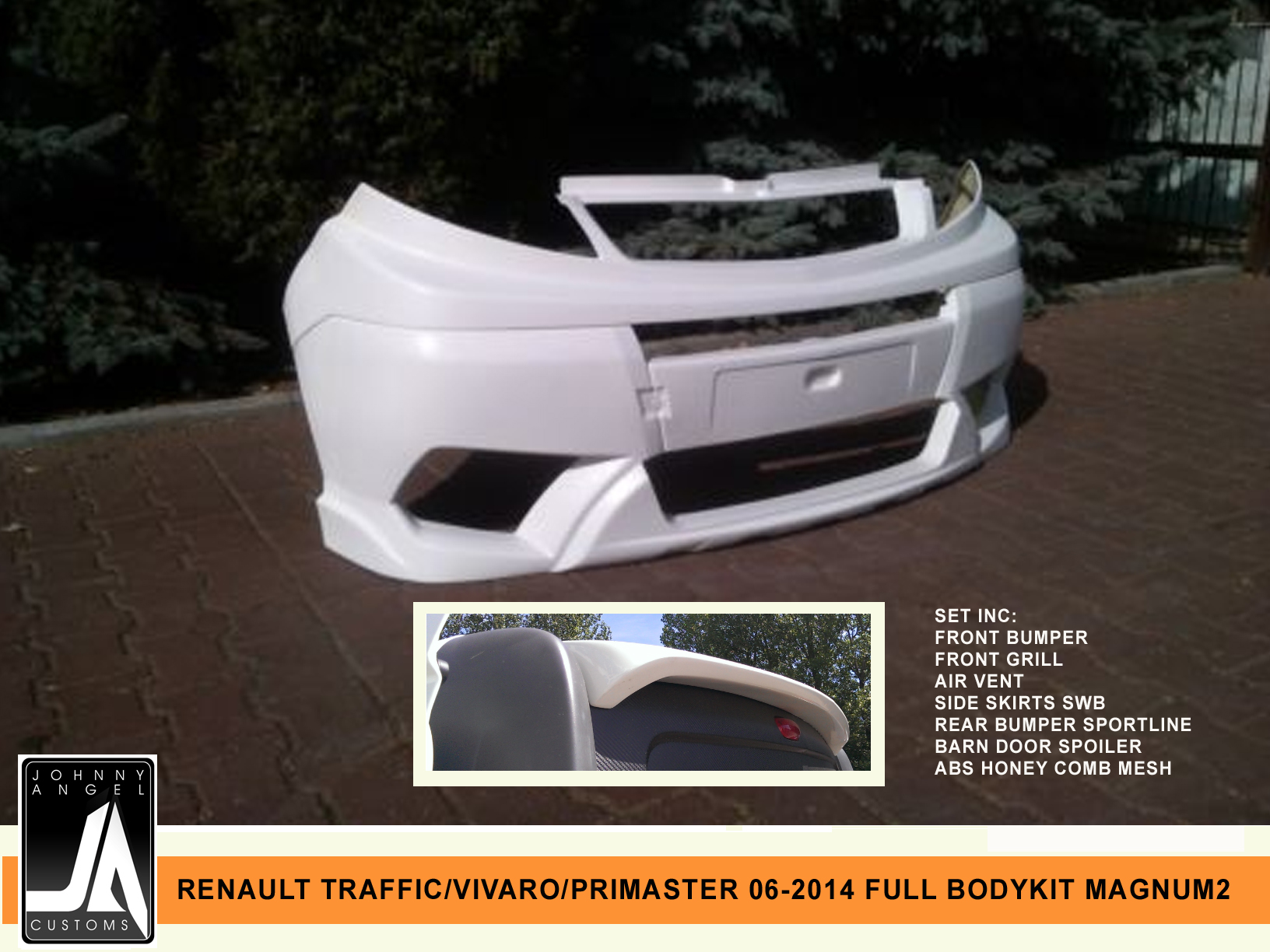 RENAULT TRAFFIC VIVARO PRIMASTER 06-2014 FULL BODYKIT MAGNUM2 By Johnny Angel Customs Pic 2