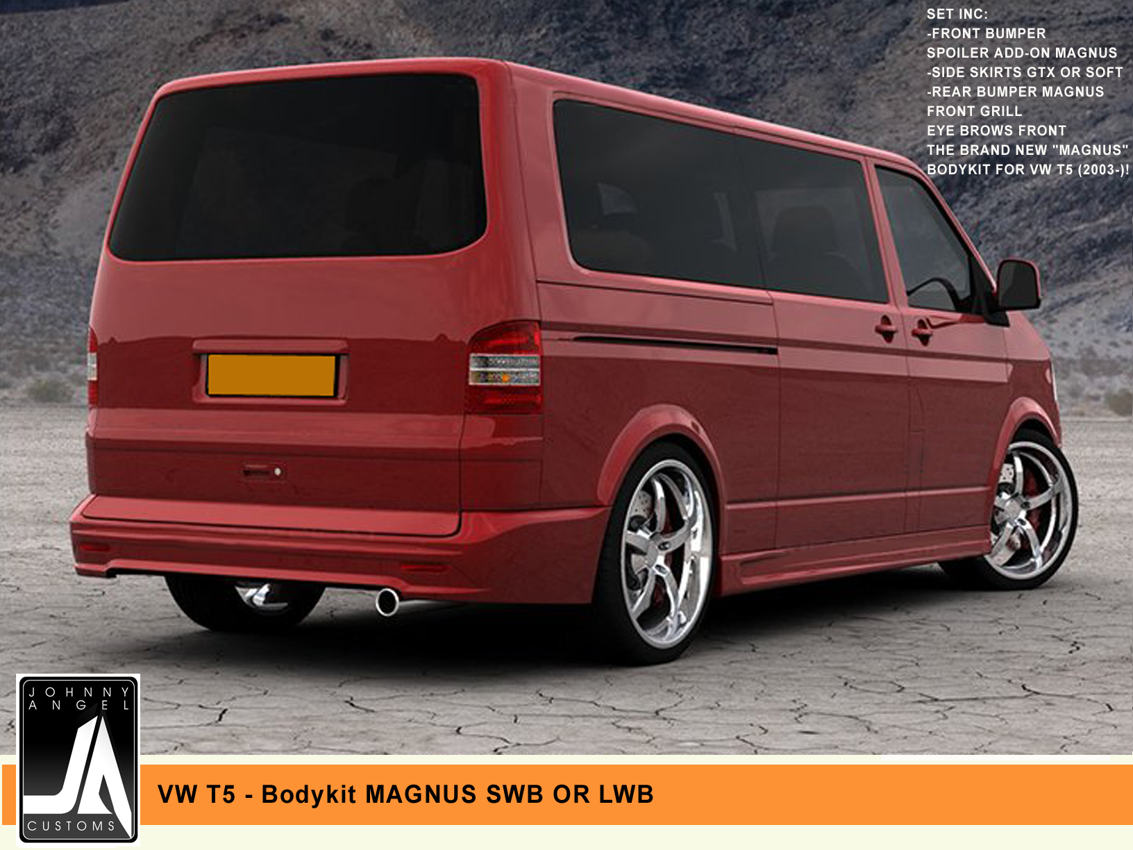 VW T5 - Bodykit MAGNUS SWB OR LWB  Johnny Angel Customs pic 2