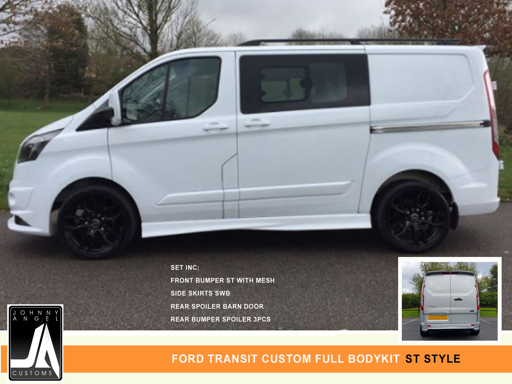 FORD TRANSIT CUSTOM FULL BODYKIT  ST Style By Johnny Angel Customs Pic 2