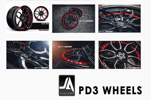 "PRIOR-DESIGN Wheels PD3Forged 19"" Set of 4 Non Con"