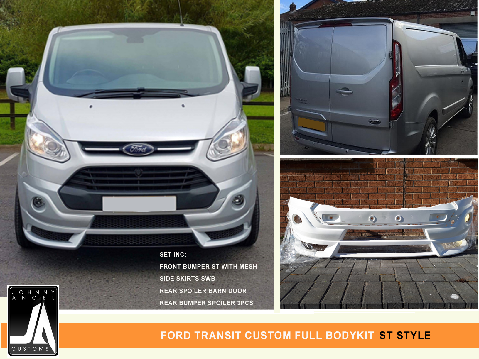 FORD TRANSIT CUSTOM FULL BODYKIT  ST Style By Johnny Angel Customs Pic 1