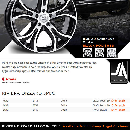 RIVIERA DIZZARD Alloy Wheels  20X9J  ET45  5X120