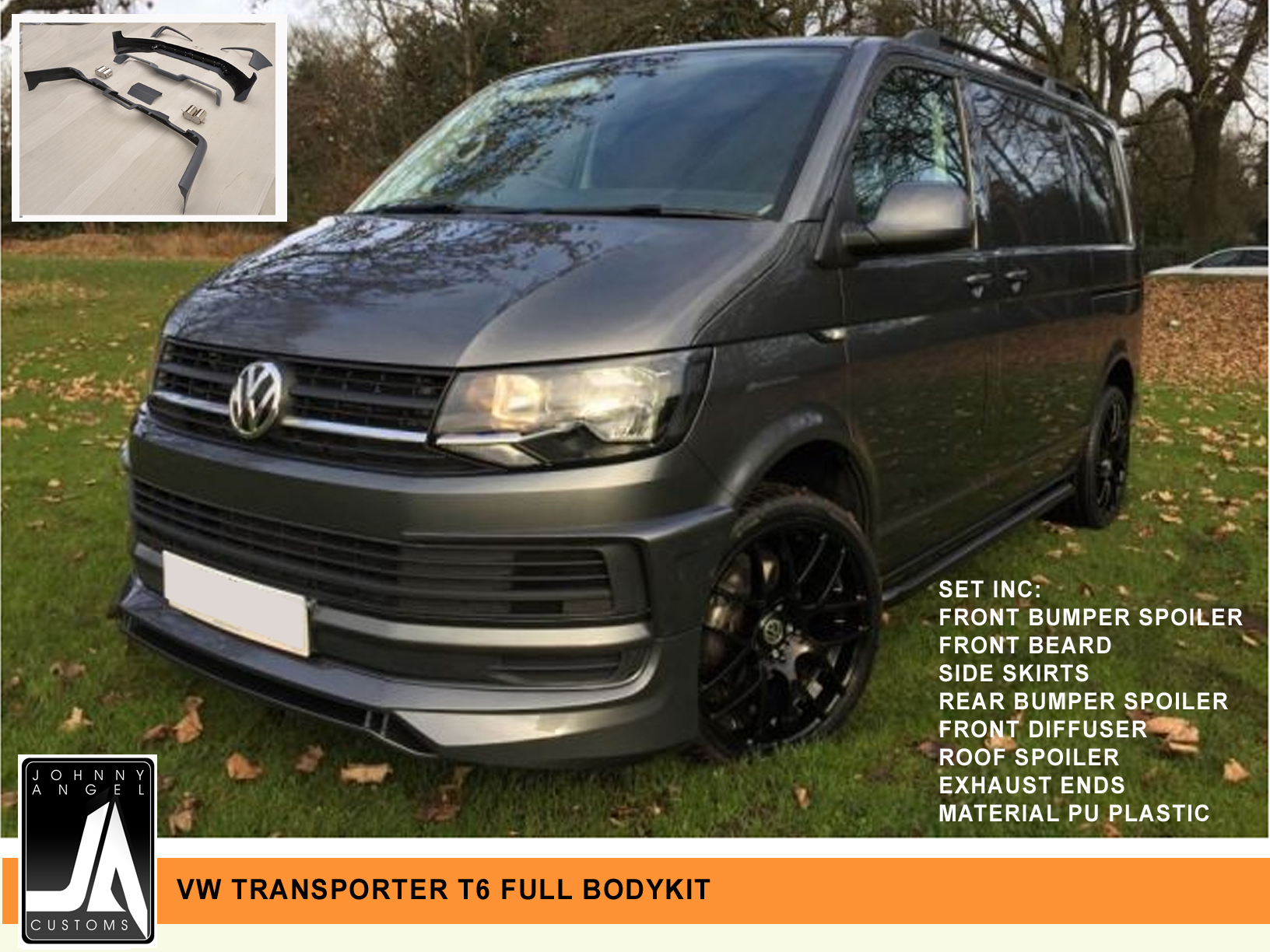 VW TRANSPORTER T6 FULL BODYKIT   Johnny Angel Customs pic 1
