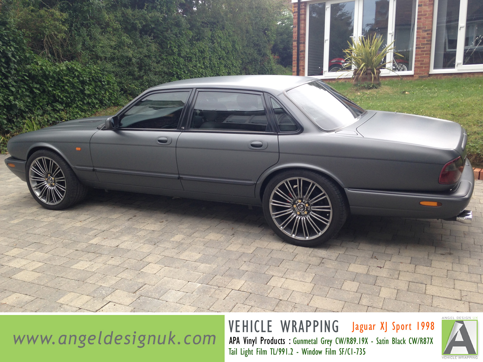 ANGEL DESIGN UK Vehicle Wrapping Jaguar XJ Sport 1998 Gunmetal Grey Pic 2