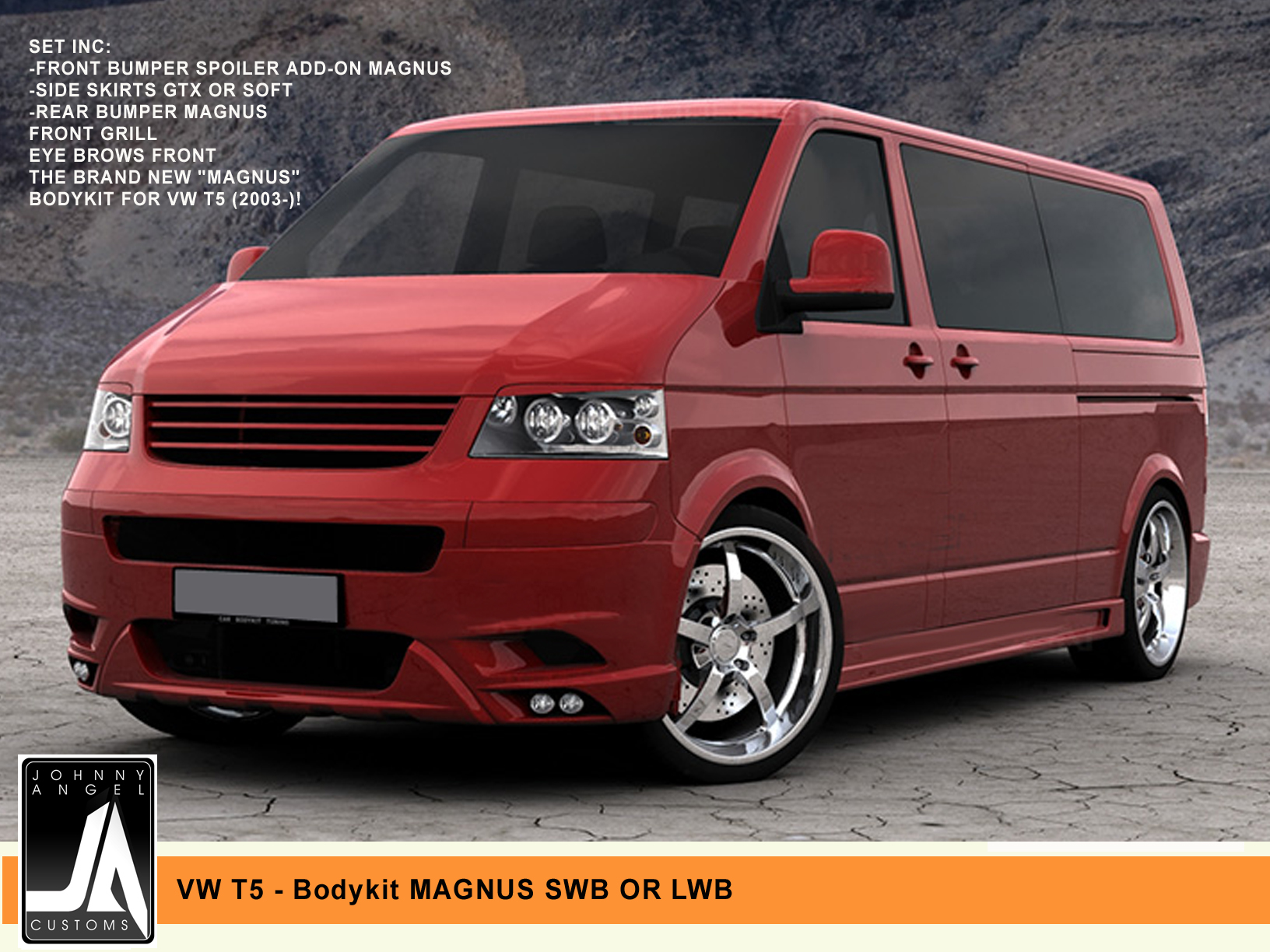 VW T5 - Bodykit MAGNUS SWB OR LWB  Johnny Angel Customs pic 1