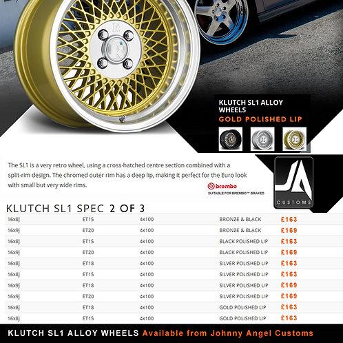 KLUTCH SL1 Alloy Wheels  16x8j  ET15  4x100