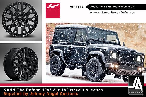 """KAHN Defend 1983 8""""x 18""""Satin Black Alloy Wheels"""