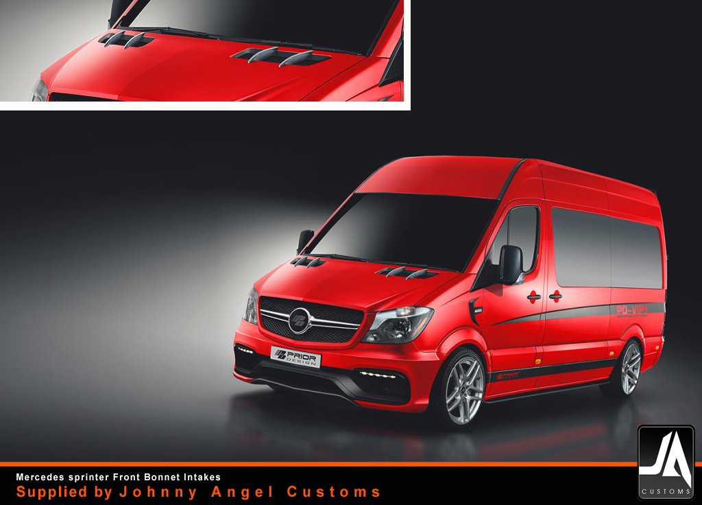 mercedes_sprinter_Front Bonnet Intakes_prior-design_PD-VIP1Supplied by Johnny Angel Customs