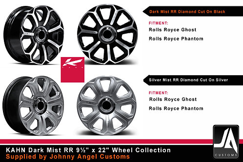 "KAHN The DARK MIST RR 9½"" x 22"" Alloy Wheels SET"