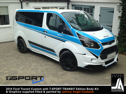 2014 Ford Transit Custom with T-SPORT TRANSIT Edition Body Kit & Graphics By Johnny Angel Customs pi