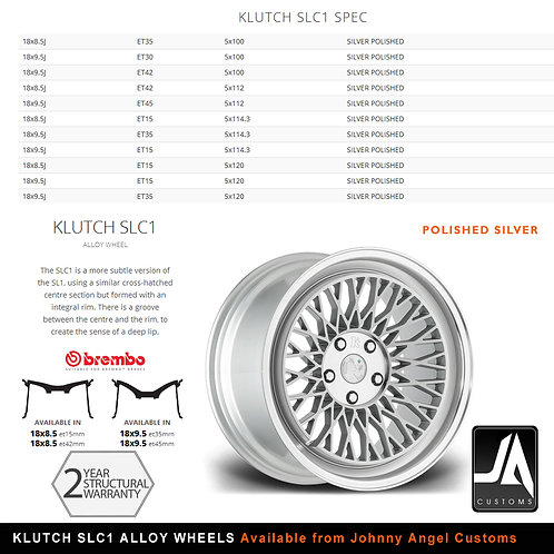 KLUTCH SLC1 Alloy Wheels  18x9.5j	 ET30  5x100