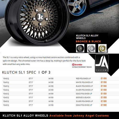 KLUTCH SL1 Alloy Wheels  15x8.5jET17  4x100