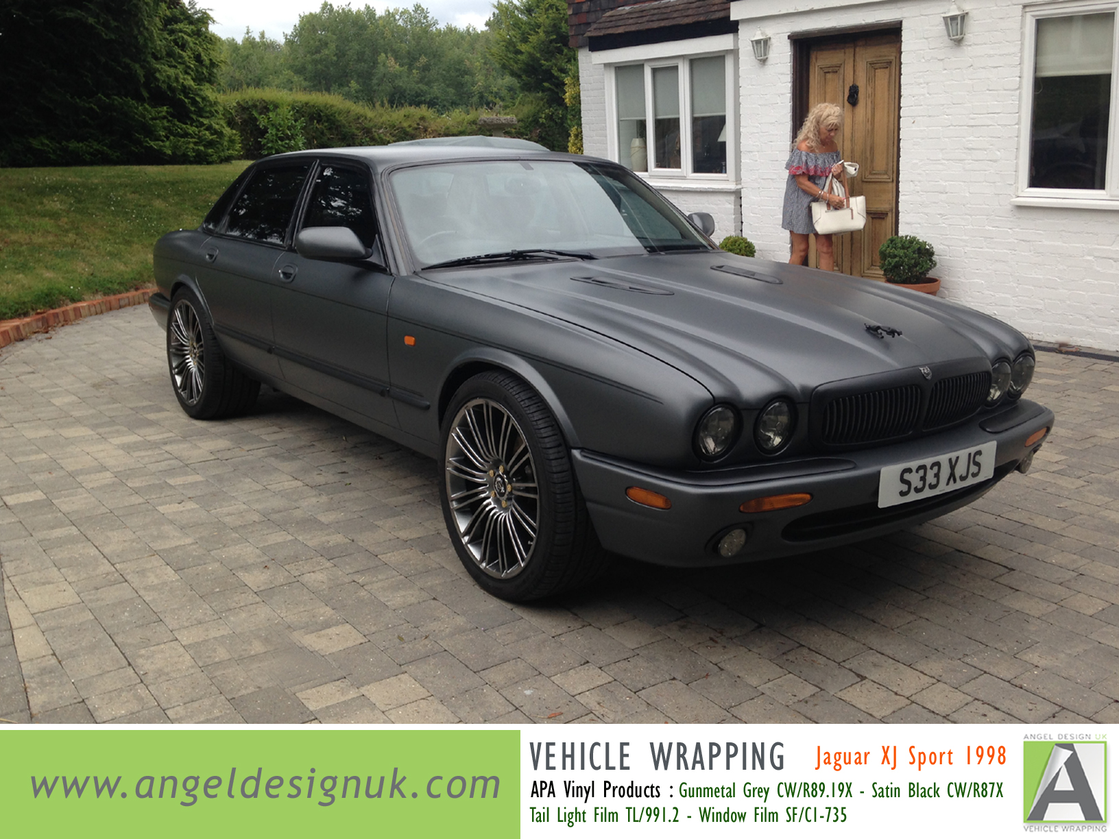 ANGEL DESIGN UK Vehicle Wrapping Jaguar XJ Sport 1998 Gunmetal Grey Pic 1
