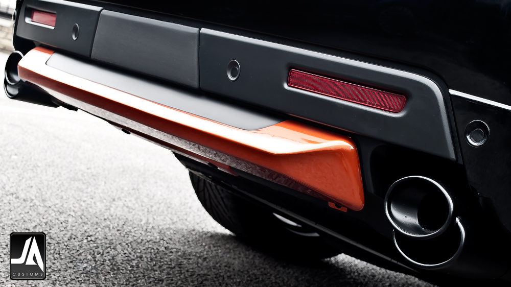 Quad Oval Diagonal Exhaust Tailpipes Accessory by Kahn Design pic 2