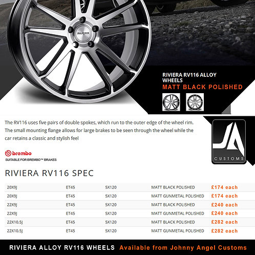 RIVIERA RV116 Alloy Wheels  22X10.5J  ET45  5X120