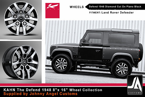 "KAHN Defend 1948 8""x16""Diamond Cut On Piano Black"