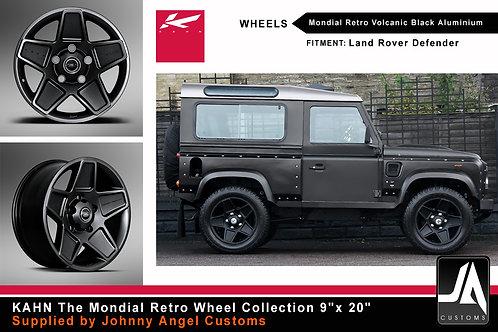 "KAHN The Mondial Retro Wheel Collection 9""x 20"""