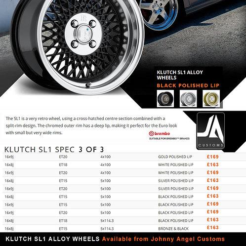 KLUTCH SL1 Alloy Wheels  16x9j  ET15  5x100
