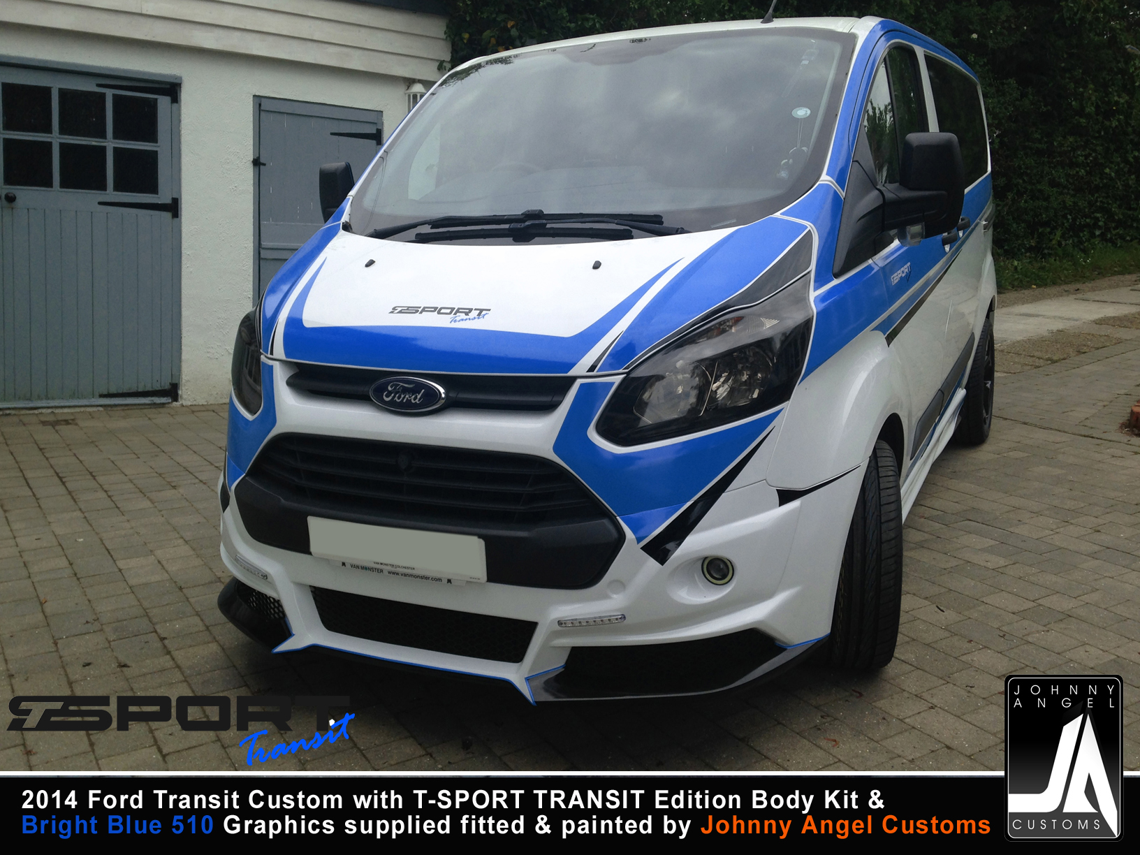 2014 Ford Transit Custom with T-SPORT TRANSIT Edition Body Kit & Graphics Dark blue By Johnny Angel