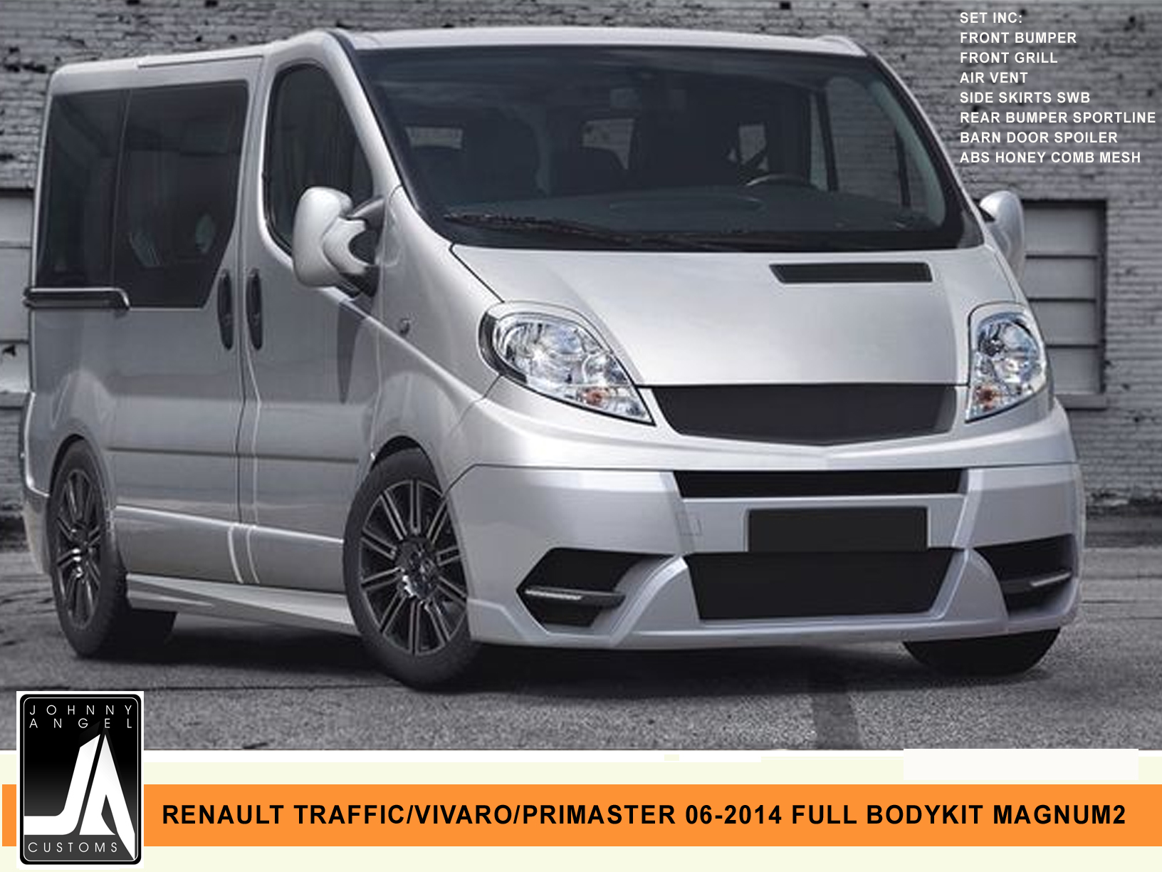 RENAULT TRAFFIC VIVARO PRIMASTER 06-2014 FULL BODYKIT MAGNUM2 By Johnny Angel Customs Pic 1