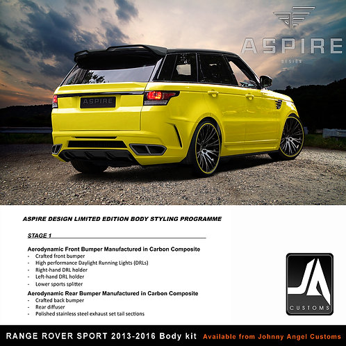 RANGE ROVER SPORT ASPIRE Body Kit STAGE1 CARBON