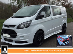 FORD TRANSIT MK8 CUSTOM FULL BODYKIT RS STYLE  By Johnny Angel Customs PIC 1