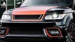 Front Grille With 3D Mesh In Carbon Fibre - LE Accessory by Kahn Design pic 2