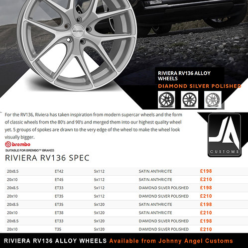 RIVIERA RV136 Alloy Wheels  20x10	T35	5x120