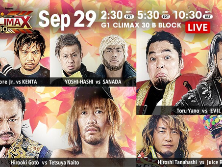 NJPW G1:Climax Night 6 Recap and Review