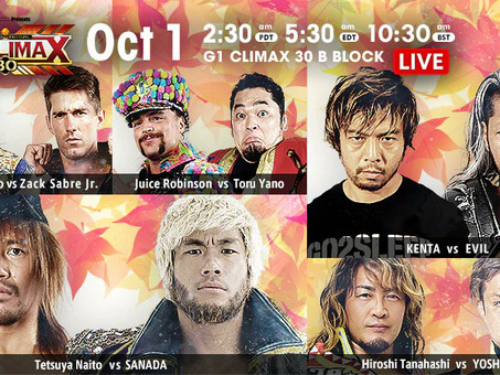 NJPW G1:Climax Night 8 Recap and Review