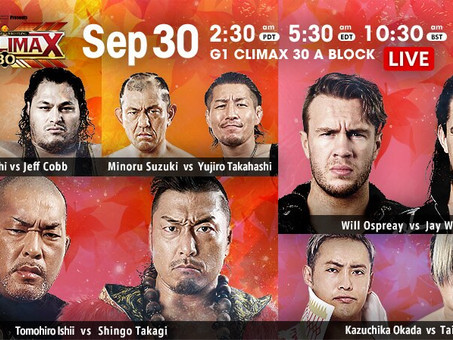 NJPW G1:Climax Night 7 Recap and Review