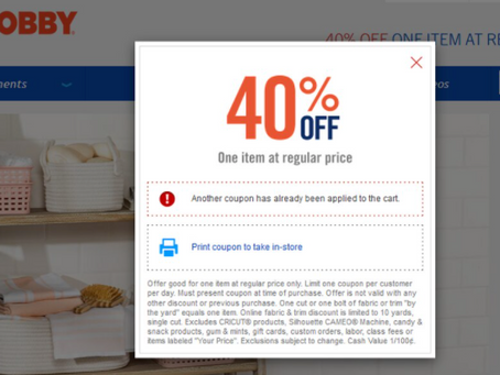 The end of the Hobby Lobby 40% off coupon