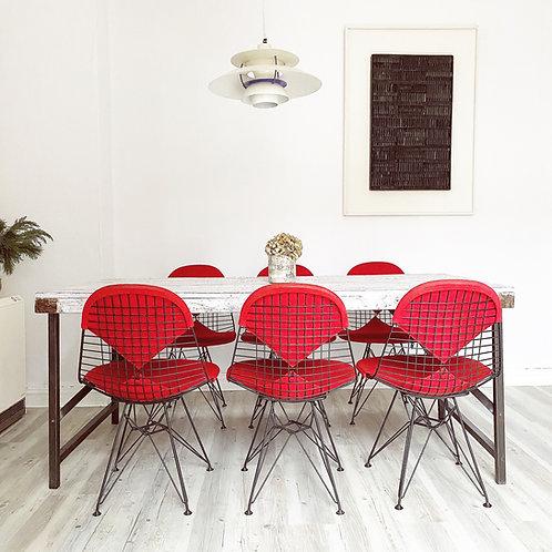 6x Vitra | Eames - Wire Chair / Chairs - Sidechair - DKR-2 Stühle