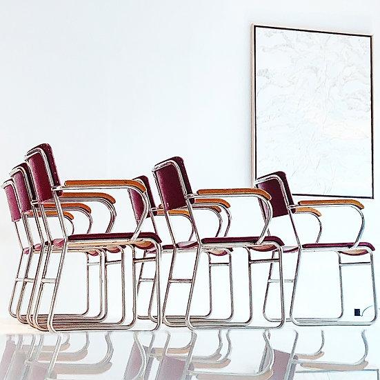 Seltene Lindquist Stahlrohr Stühle aus den 50er Jahre