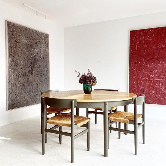 Borge Mogensen - Tisch + 6 Stühle