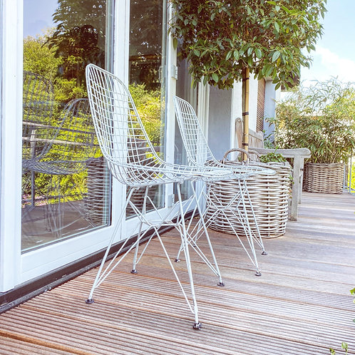 2 Herman Miller / Vitra DKR - Eames Wire Chairs | Stühle