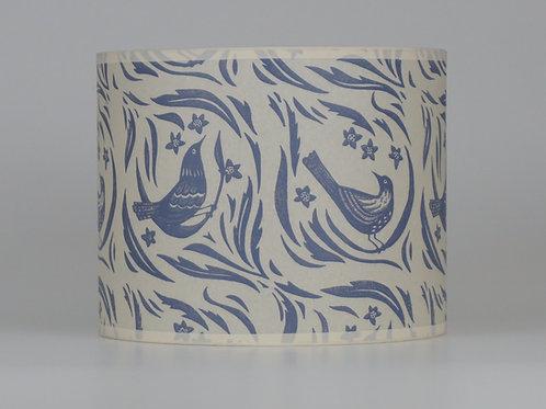 Bird garden lampshade, grey. From £45