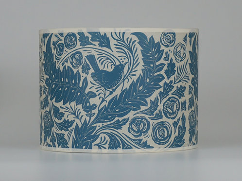 William's Garden lampshade, blue. From £35