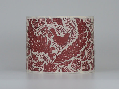 William's Garden lampshade, red. From £35