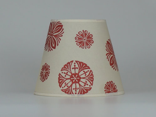 Bloom lampshade, red. From £50